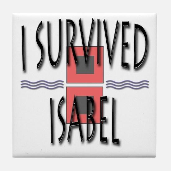 Survived Isabel Tile Coaster