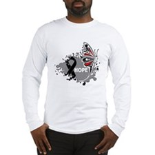 Hope Melanoma Butterfly Long Sleeve T-Shirt
