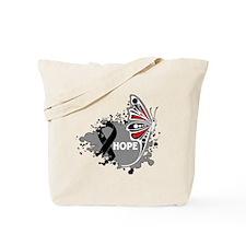 Hope Melanoma Butterfly Tote Bag