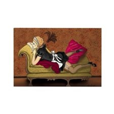 French Maid Secrets Pin-up Rectangle Magnet