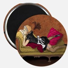 """French Maid Secrets Pin-up 2.25"""" Magnet (10 pack)"""