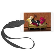 French Maid Secrets Pin-up Luggage Tag