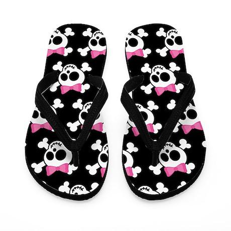Cute Skull Flip Flops