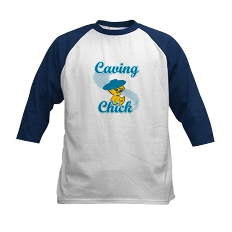 Caving Chick #3 Kids Baseball Jersey