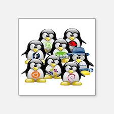 "logo linux Square Sticker 3"" x 3"""