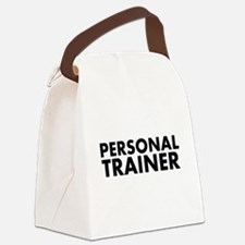 Personal Trainer Black/White Canvas Lunch Bag