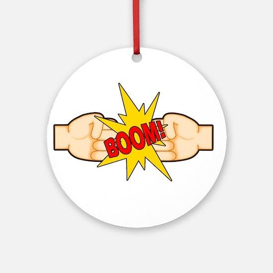 Fist Bump BOOM! Ornament (Round)