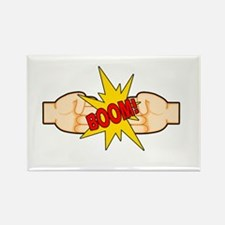 Fist Bump BOOM! Rectangle Magnet