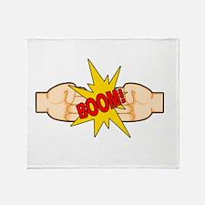 Fist Bump BOOM! Throw Blanket