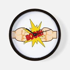 Fist Bump BOOM! Wall Clock