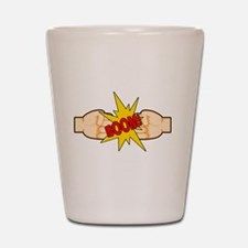 Fist Bump BOOM! Shot Glass