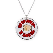 Bump This Necklace Circle Charm