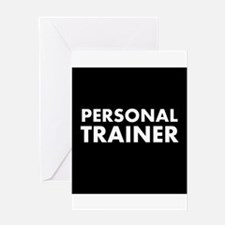 Black/White Personal Trainer Greeting Card