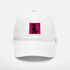 Zebra Striped Pink and Black Poodle Baseball Baseball Cap