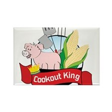 Cookout King Rectangle Magnet