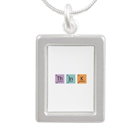 Periodic Chart Think Silver Portrait Necklace