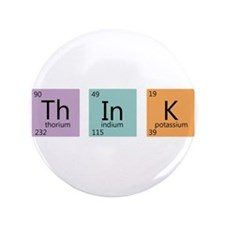 """Periodic Chart Think 3.5"""" Button"""