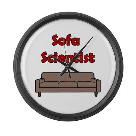 Sofa Scientist Large Wall Clock
