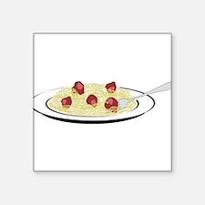"Spaghetti Dinner Square Sticker 3"" x 3"""