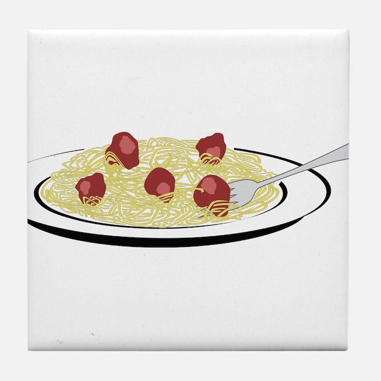 Spaghetti Dinner Tile Coaster