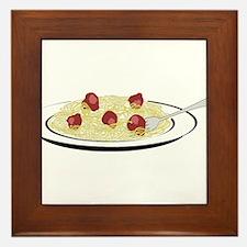 Spaghetti Dinner Framed Tile