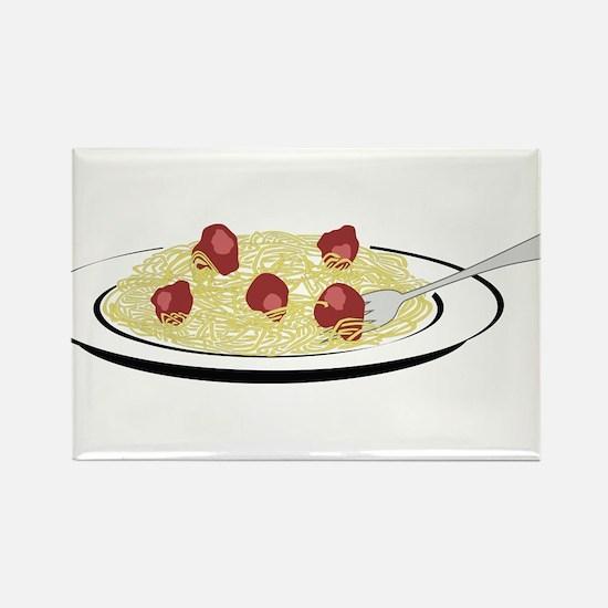 Spaghetti Dinner Rectangle Magnet