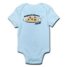 Spaghetti Dinners Rock Infant Bodysuit