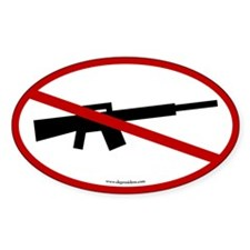 No Assault Weapons. Oval Decal. Decal