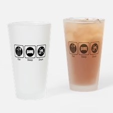 Eat, Sleep, Drum Drinking Glass