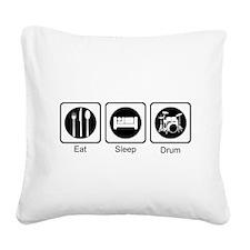 Eat, Sleep, Drum Square Canvas Pillow