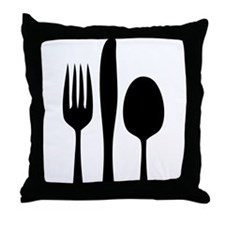 Silverware Throw Pillow