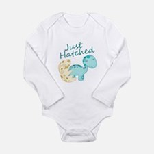 Just Hatched! Baby Dinosaur Long Sleeve Infant Bod