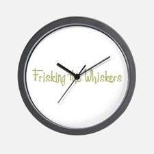 Frisking the Whiskers Wall Clock