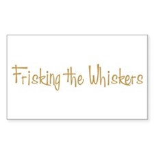 Frisking the Whiskers Rectangle Decal