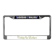 Frisking the Whiskers License Plate Frame