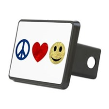 Peace Love Happiness Hitch Cover