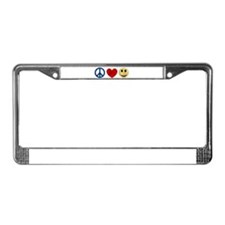Peace Love Happiness License Plate Frame