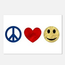 Peace Love Happiness Postcards (Package of 8)