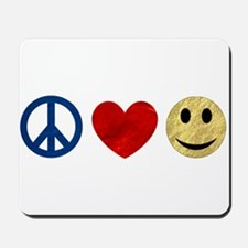 Peace Love Happiness Mousepad