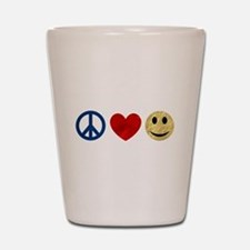 Peace Love Happiness Shot Glass