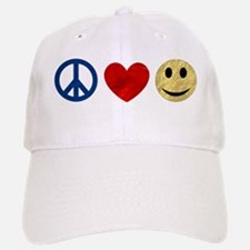 Peace Love Happiness Baseball Baseball Cap