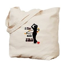 I play with fire silhouette Tote Bag