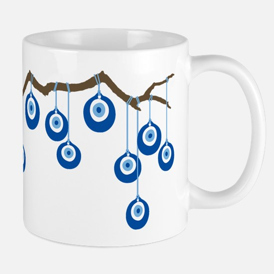 Blue Eye Amulets On Branch Mug