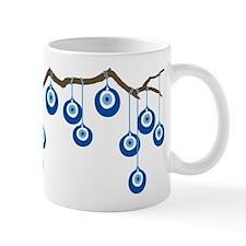 Blue Eye Amulets On Branch Small Mugs