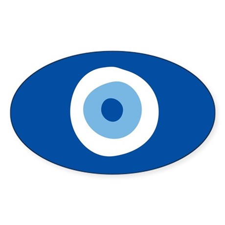 Blue Eye Sticker (Oval)
