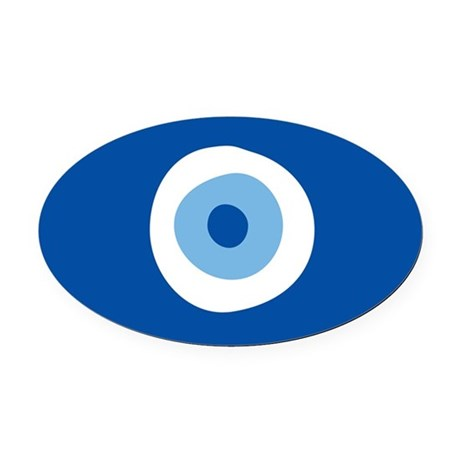 Blue Eye Oval Car Magnet