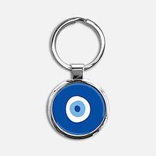 Blue Eye Round Keychain