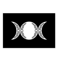 Triple Goddess Moon Symbol Postcards (Package of 8