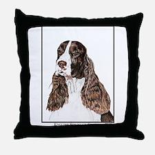 English Springer Spaniel Art Throw Pillow