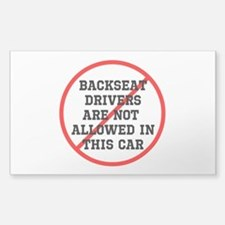 Backseat Driver Sticker (Rectangle)